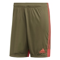 Adidas TASTIGO 19 SHORTS - Raw Khaki/Shock Red