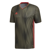 Adidas (Teamwear) TIRO 19 JERSEY - Raw Khaki/Shock Red