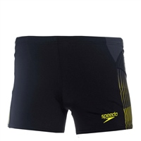 Speedo Mens Placement Swim Shorts - Black/Green