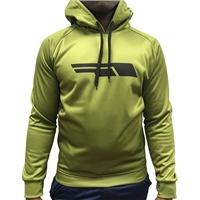 Briga Mens Poly Fleece P/O Hoodie - Khaki/Black