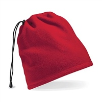 Beechfield Suprafleece Snood/Hat Combo - Red