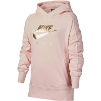 Nike Girls Air Pullover Hoodie GX - Pink/Gold