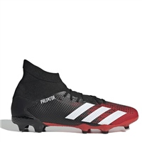Adidas Predator 20.3 FG Football Boots - Black/White/Red
