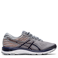 Asics Womens Gel Cumulus 21 - Grey/Navy/Rose Gold
