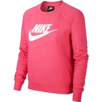 Nike Womens Essential Fleece Crew - Water Melon/White