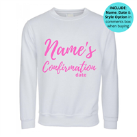 Confirmation Personalised Sweatshirt - White