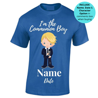 Communion Personalised T-shirt - Blue