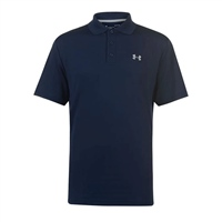 Under Armour MENS TEXTURED PERFORMANCE POLO -  NAVY