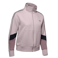 Under Armour WOMENS DOUBLE KNIT FULL ZIP TOP - PALE TWIST PINK