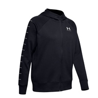 Under Armour WOMENS RIVAL LC SLEEVE FLEECE - BLACK