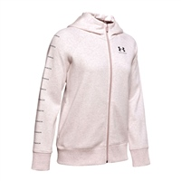 Under Armour WOMENS RIVAL LC SLEEVE FLEECE - PALE TWIST PINK