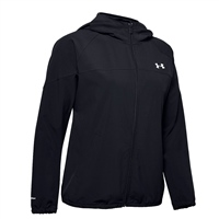 Under Armour WOMENS WOVEN BRANDED FZ HOODIE - BLACK