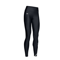 Under Armour WOMENS GRAPHIC SWERVE WORDMARK LEGGINGS - BLACK