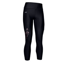 Under Armour WOMENS PRINTED ANKLE CROP LEGGINGS - BLACK/PINK
