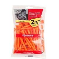 "Masters PLASTIC TEES 3/4"" - BAG OF 30 - ORANGE"