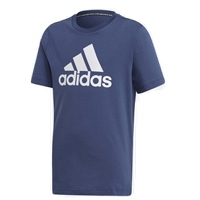 Adidas BOYS BADGE OF SPORT T-SHIRT - NAVY/WHITE