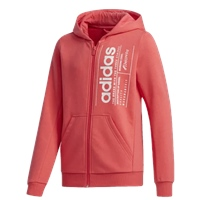 Adidas GIRLS BRILLIANT BASIC FZ HOODIE - CORAL PINK