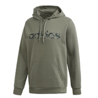 Adidas MENS CAMO LINEAR PULLOVER HOODIE - GREEN/BLACK