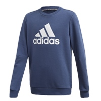 Adidas BOYS MUST HAVE CREW SWEATSHIRT - NAVY/WHITE