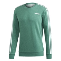Adidas MENS 3S CREW SWEATSHIRT - GREEN/WHITE
