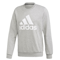 Adidas MENS MUST HAVE BOS CREW SWEAT - GREY/WHITE