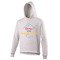 ALL INKD Home Is My Happy Place Hoody - Ash Grey - Kids