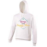 ALL INKD Home Is My Happy Place Hoody - White - Kids