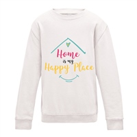 ALL INKD Home Is My Happy Place Sweat - Ash Grey - Kids