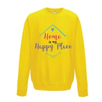 ALL INKD Home Is My Happy Place Sweat - Sunflower - Kids