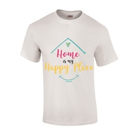 ALL INKD Home Is My Happy Place Tee - Ash Grey - Kids