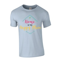 ALL INKD Home Is My Happy Place Tee - Sky Blue - Kids