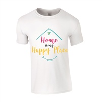ALL INKD Home Is My Happy Place Tee - White - Kids