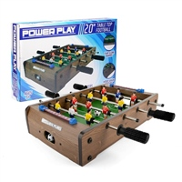 POWER PLAY TABLE FOOTBALL GAME - 20 INCH - BROWN