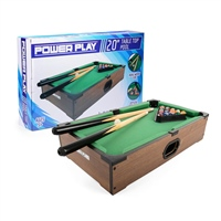 POWER PLAY TABLE POOL GAME - 20 INCH - BROWN