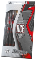 Harrows ACE RUBBER COATED BRASS DARTS - BLACK/RED