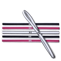 Under Armour UA Mini Headbands (6pk) - Black/Pink
