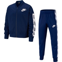 Nike Girls NSW Tricot Tracksuit - Blue/White