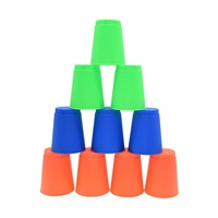 Reydon Stacking Cups (Pack of 12) - Blue/Green/Orange