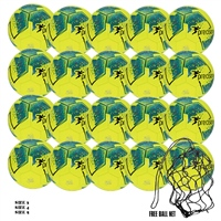 Precision 20 x Precision Fusion IMS Training Ball (Free Ball Net) - Fluo Yellow/Teal/Cyan/Red