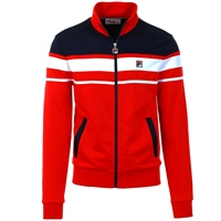 Fila MENS GORDON COLOUR BLOC TRACK JACKET - RED/NAVY/WHITE