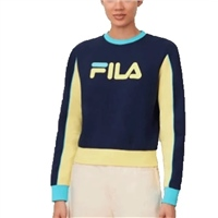 Fila WOMENS NURIA COLOUR BLOCK SWEATSHIRT - NAVY