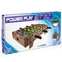 POWER PLAY TABLE FOOTBALL GAME - 27 INCH - BROWN