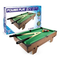 POWER PLAY TABLE POOL GAME - 25 INCH - BROWN