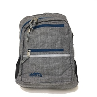 Ridge 53 CAMPUS BACKPACK - GREY/NAVY