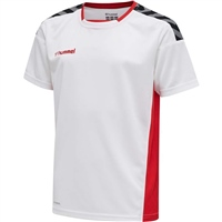 Hummel AUTHENTIC POLY JERSEY S/S - WHITE/TRUE RED