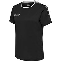 Hummel AUTHENTIC POLY JERSEY WOMAN S/S - BLACK/WHITE