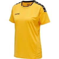 Hummel AUTHENTIC POLY JERSEY WOMAN S/S - SPORTS YELLOW/BLACK
