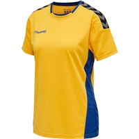 Hummel AUTHENTIC POLY JERSEY WOMAN S/S - SPORTS YELLOW/TRUE BLUE