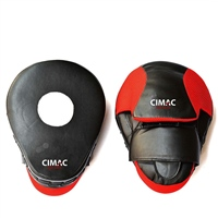 Cimac CURVED FOCUS MITTS - 10 INCH - BLACK/RED