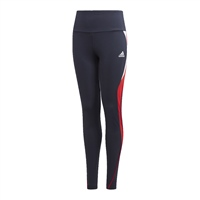 Adidas GIRLS AERO READY LEGGINGS - NAVY/RED/WHITE